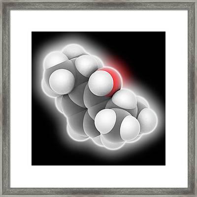 Propofol Drug Molecule Framed Print by Laguna Design