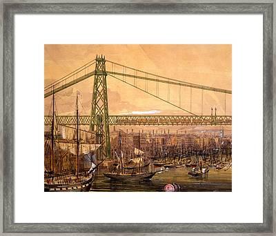 Proposed Railway Bridge Framed Print by English School