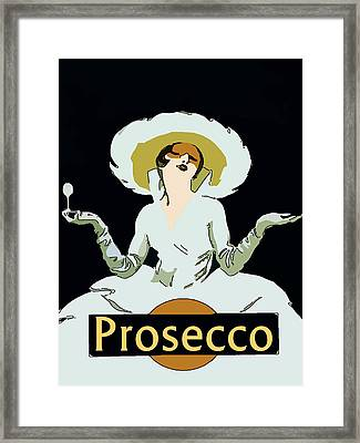 Prosecco Framed Print by Fig Street Studio