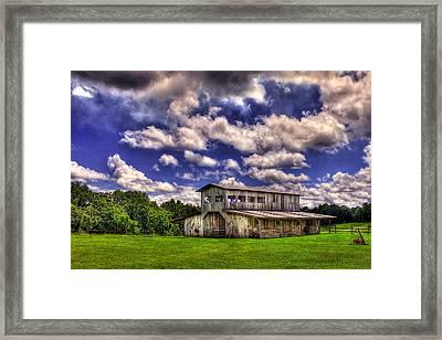 Prospect Barn In A Cloud Filled Sky  Framed Print by Reid Callaway