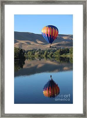 Prosser Balloon Reflection Framed Print by Carol Groenen