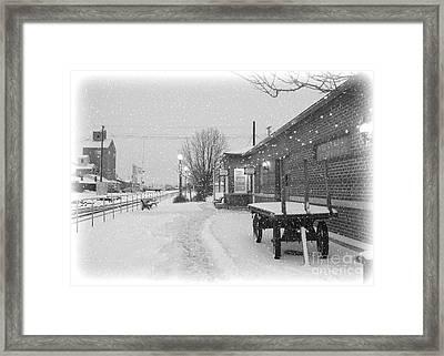 Prosser Winter Train Station  Framed Print by Carol Groenen