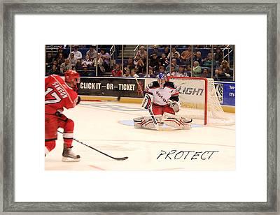 Protect Framed Print by Karol Livote