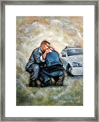 Protect Serve Survive Framed Print by Craig Green