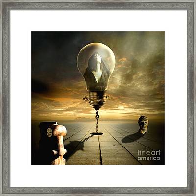Protected In The Light Of The Cherubim Framed Print by Franziskus Pfleghart