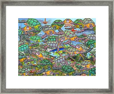 Protecting Mr. Bluefin  Framed Print by Betsy C Knapp