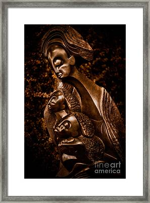 Protecting The Future Of My Children Framed Print by Venetta Archer