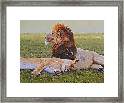 Protecting The Queen Framed Print by Aaron Blaise