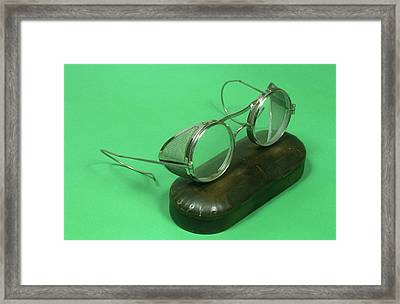 Protective Goggles Framed Print by Science Photo Library
