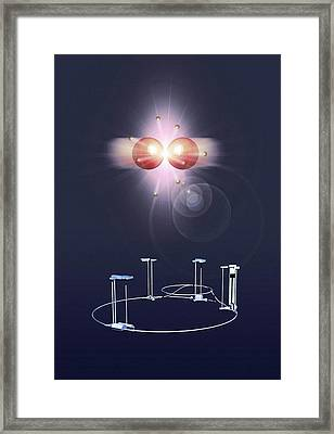 Proton Collision And The Lhc Framed Print by Mikkel Juul Jensen