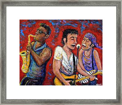 Prove It All Night Bruce Springsteen And The E Street Band Framed Print by Jason Gluskin