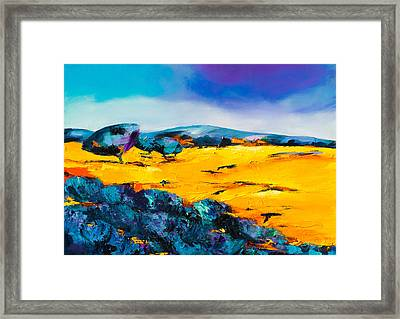 Provencal Countryside Framed Print by Elise Palmigiani