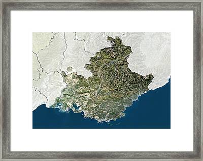 Provence-alpes-cote D'azur, France Framed Print by Science Photo Library