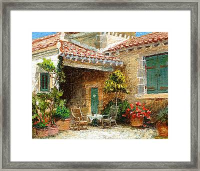 Provence Barn, 2006 Oil On Board Framed Print by Trevor Neal