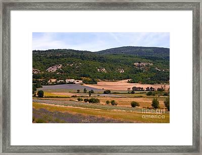 Provence Landscape Framed Print by Bob Phillips