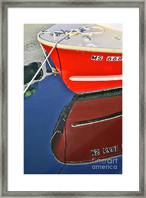 Provincetown Harbor Reflection Framed Print by Allen Beatty