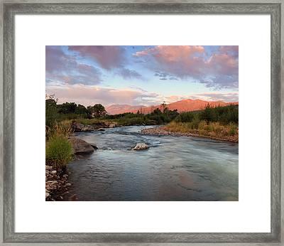Provo River Sunrise Framed Print by Johnny Adolphson