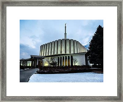 Provo Temple Framed Print by Gloria Pasko