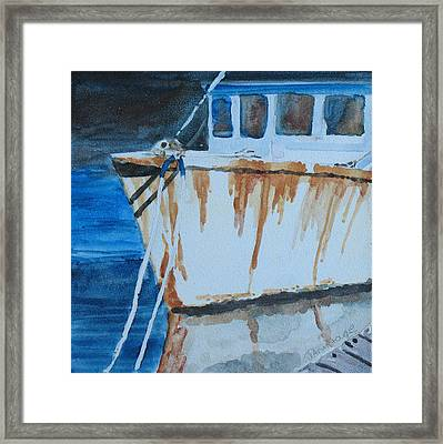 Prow Reflected Framed Print by Jenny Armitage