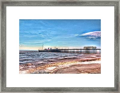 Ps Waverley At Penarth Pier 2 Framed Print by Steve Purnell