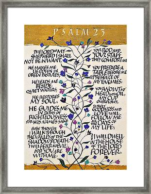 Psalm 23 Framed Print by Dave Wood