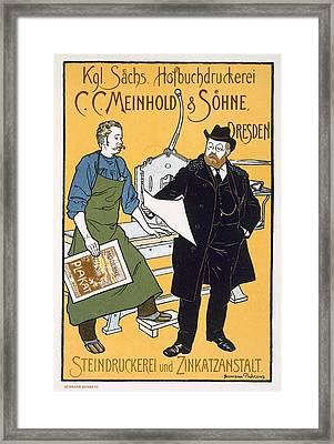 Pster Advertising C. C. Meinhold & Sons Framed Print by Hermann Behrens