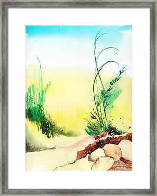 Psychedelic Framed Print by Anil Nene