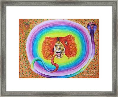 Psychedelic Art Painting Framed Print by Jeepee Aero