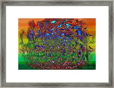 Psychedelic Mind Framed Print by Linda Sannuti