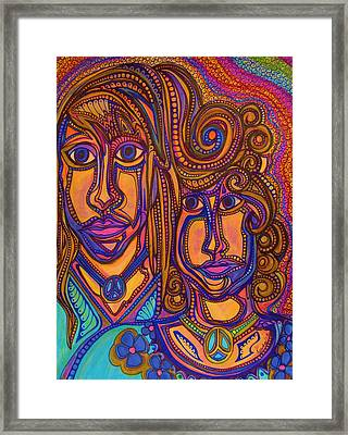 Psychedelic  Peace Vision Framed Print by Gerri Rowan