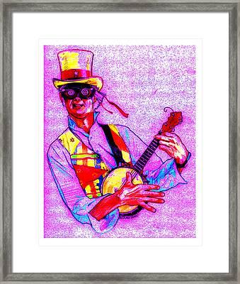 Psychedelic Steampunk Banjo Framed Print by Dale Michels