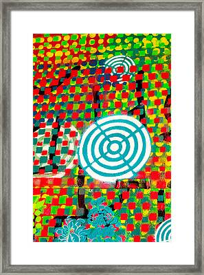 Psychedelic Street Art  Framed Print by Art Block Collections
