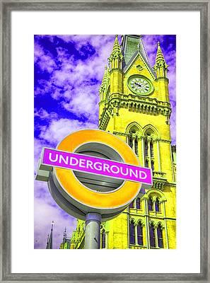 Psychedelic Underground Framed Print by Stephen Stookey