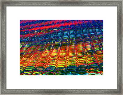 Psychedelic Yarn Framed Print by James Hammen