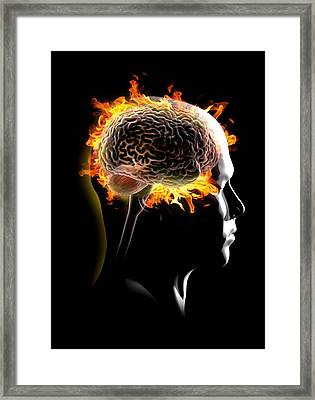 Psychic Brain, Conceptual Image Framed Print by Science Photo Library