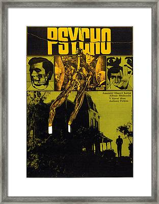 Psycho, L-r Anthony Perkins, Alfred Framed Print by Everett
