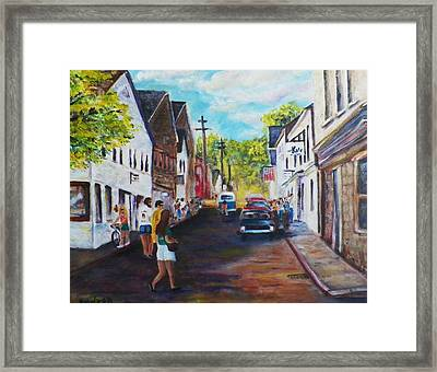 P'town Streets Framed Print by Michael McGrath