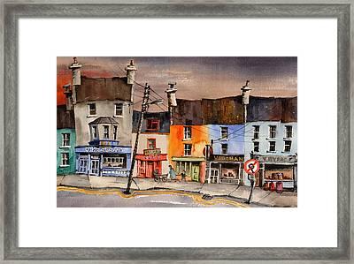 Pub Street Ennistymon  Clare Framed Print by Val Byrne