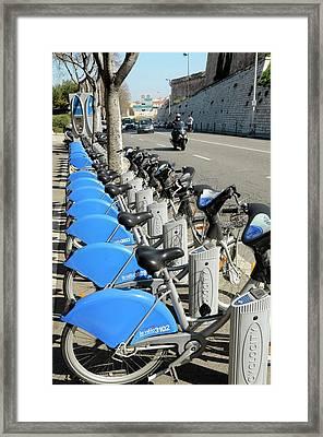 Public Bike Hire Scheme Framed Print by Chris Hellier