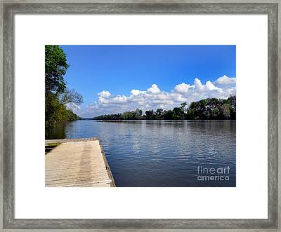 Public Landing Framed Print by Skip Willits