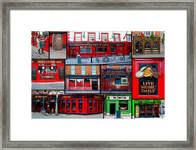 Pubs Of Dublin Framed Print by Bill Cannon