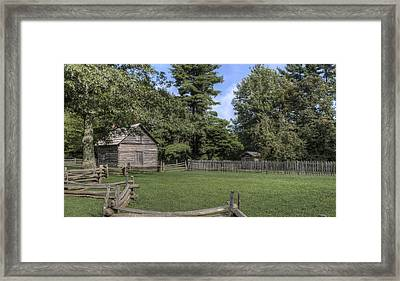 Puckett Cabin Framed Print by Stephen Gray