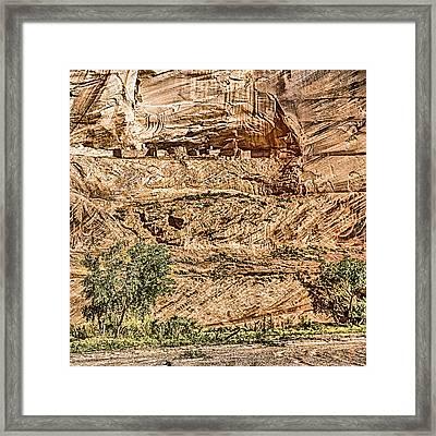 Pueblo 2 Canyon De Chelly Navajo Nation Framed Print by Bob and Nadine Johnston