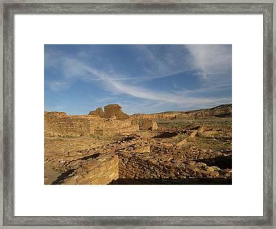 Pueblo Bonito Walls And Rooms Framed Print by Feva  Fotos