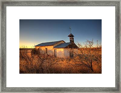 Pueblo Church Framed Print by Peter Tellone