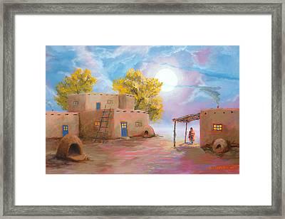 Pueblo De Las Lunas Framed Print by Jerry McElroy
