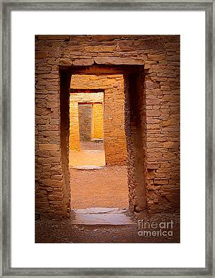 Pueblo Doorways Framed Print by Inge Johnsson