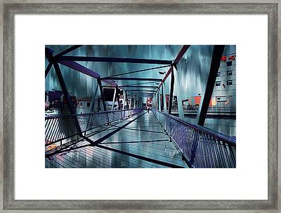 Puente De La Trinidad 1. Malaga Bridges. Spain Framed Print by Jenny Rainbow