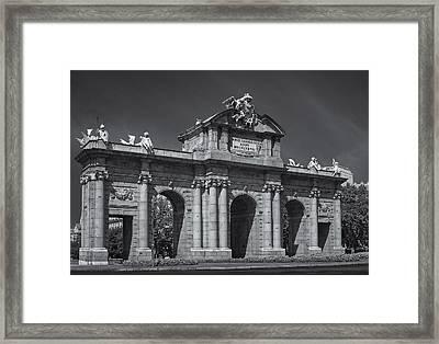 Puerta De Alcala Framed Print by Susan Candelario