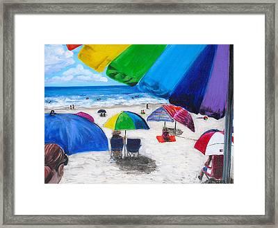 Puerto Rico Beach Framed Print by Melissa Torres